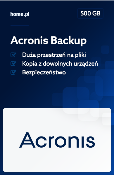 Acronis Backup 500GB
