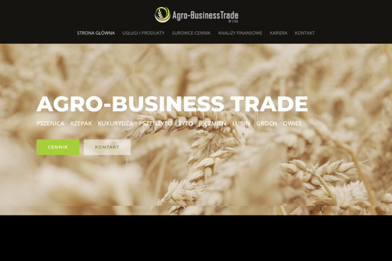 Strona Argo Business Trade