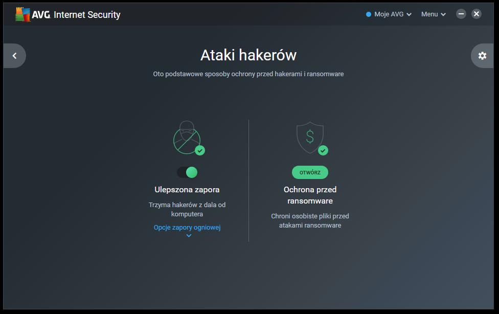 Ochrona przed hakerami AVG