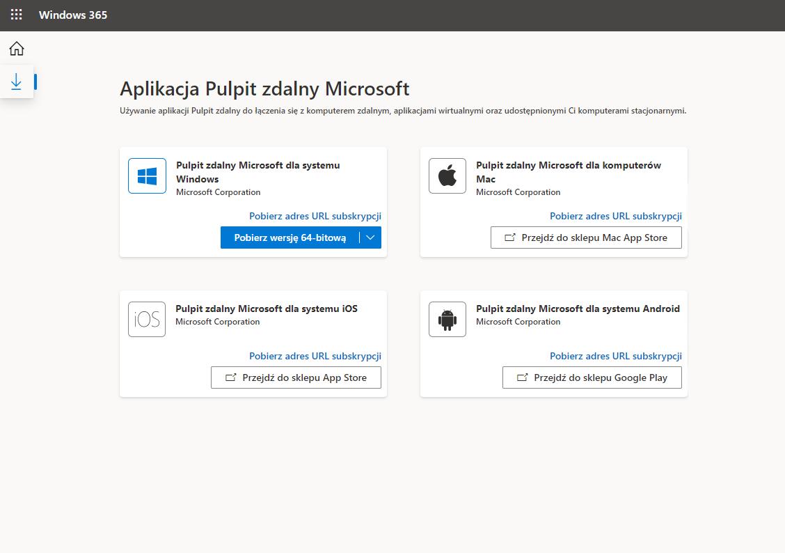 Aplikacja pulpit zdalny w Windows 365