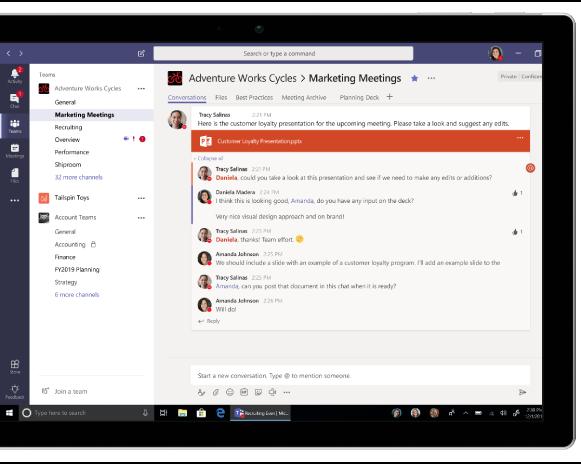 komunikacja w MS Teams