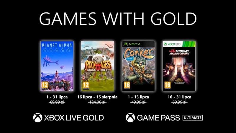 Gry w XBOX Live Gold