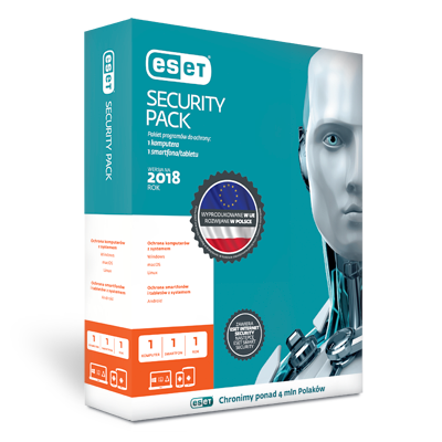 ESET Security Pack 1+1 program antywirusowy na komputer i smartfony/Licencja na 1 rok